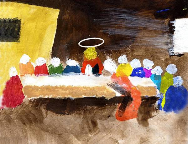 Jesus Poster featuring the mixed media Lastsupper by Curtis J Neeley Jr