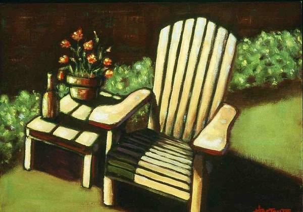 Chair Poster featuring the painting Late Afternoon by Helen O Hara