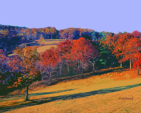 Biltmore Estates Poster featuring the mixed media Late Fall Biltmore Estates by Garland Johnson