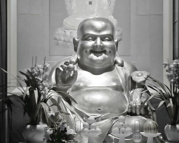 Buddhism Poster featuring the photograph Laughing Buddha - A Symbol Of Joy And Wealth by Christine Till