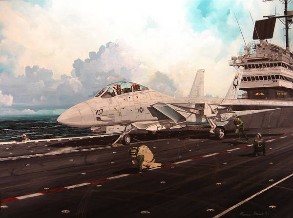 Military Poster featuring the painting Launch The Alert 5 by Marc Stewart