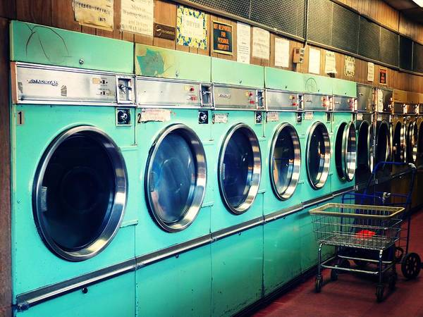 Horizontal Poster featuring the photograph Laundromat by Vivienne Gucwa