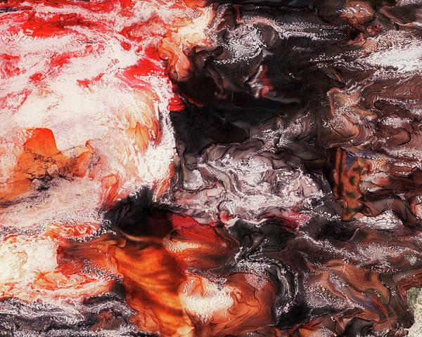 Paul Tokarski Poster featuring the photograph Lava Flow by Paul Tokarski