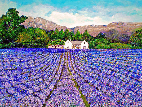 Lavender Poster featuring the painting Lavender Fields by Michael Durst