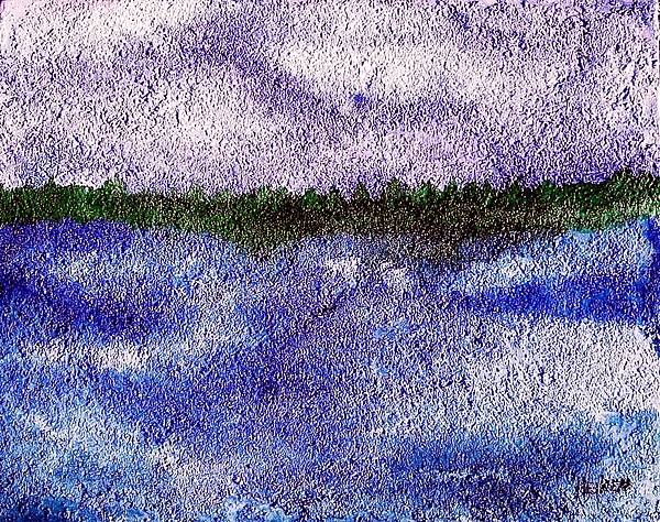 Painting Poster featuring the mixed media Lavender Land by Marsha Heiken