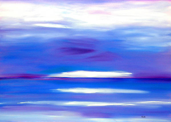Caribbean Poster featuring the painting Lavender Water by Sula Chance