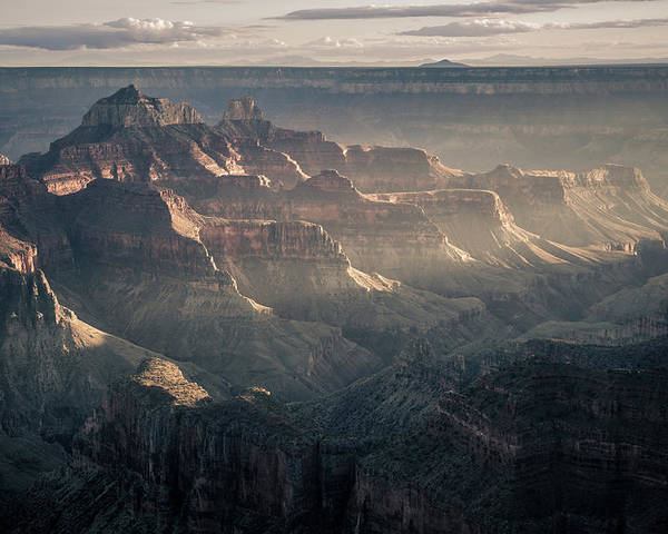Grand Canyon Poster featuring the photograph Layers Of Grand by Daniel Cooley