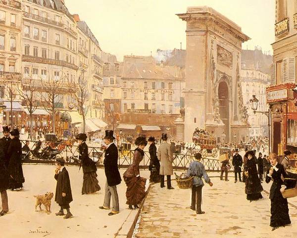 Painting Poster featuring the painting Le Boulevard St Denis - Paris by Mountain Dreams