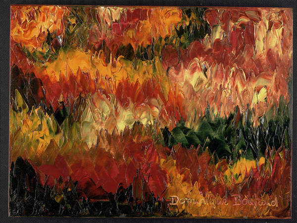 Abstract Poster featuring the painting Le Feu Et La Vie 1 by Dominique Boutaud