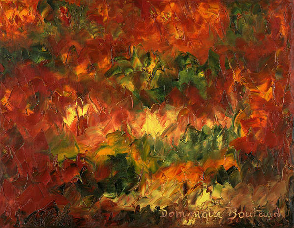 Abstract Poster featuring the painting Le Feu Et La Vie 2 by Dominique Boutaud