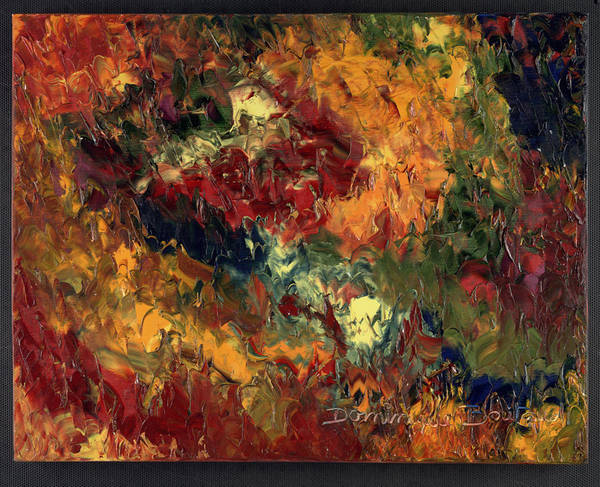 Abstract Poster featuring the painting Le Feu Et La Vie 3 by Dominique Boutaud