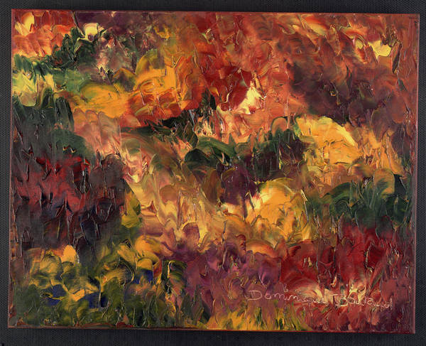 Abstract Poster featuring the painting Le Feu Et La Vie 6 by Dominique Boutaud