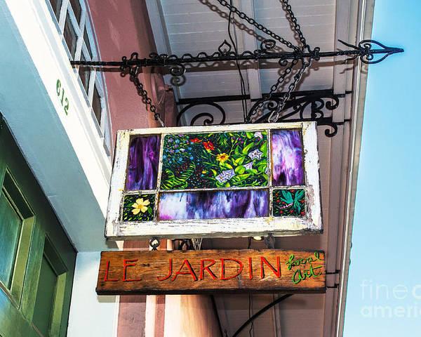Le Jardin Poster featuring the photograph Le Jardin Fine Art by Frances Ann Hattier