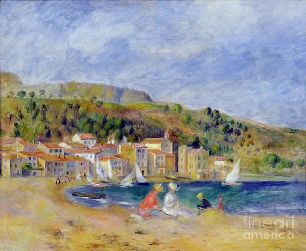 Pierre Auguste Renoir Poster featuring the painting Le Lavandou by Pierre Auguste Renoir
