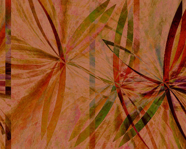 Abstract Poster featuring the digital art Leaf Dance by Ruth Palmer