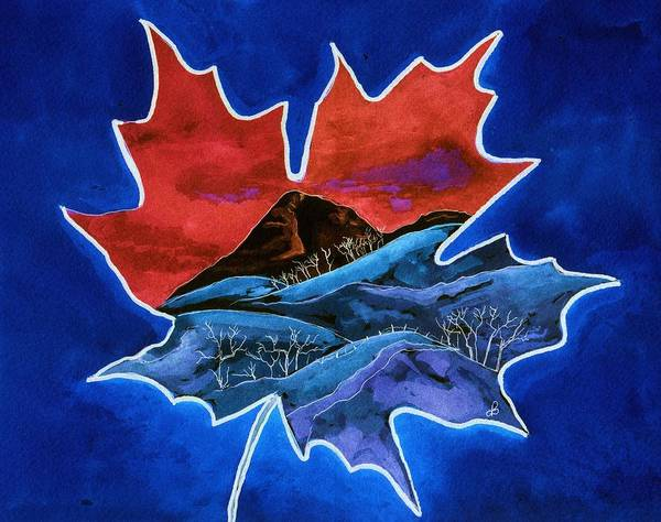 Watercolor Poster featuring the painting Leafy Vision by Brenda Owen