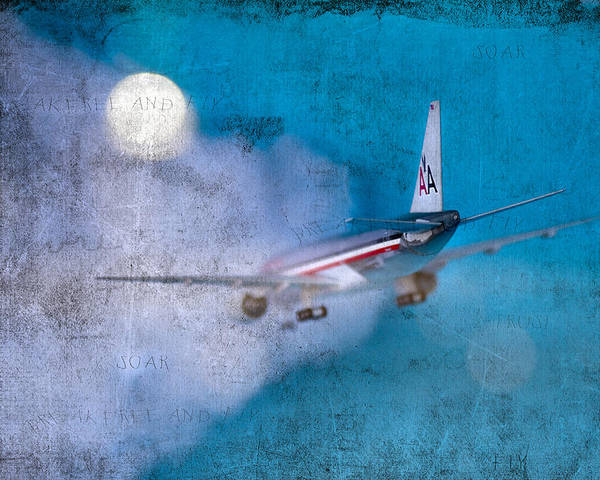 Plane Poster featuring the photograph Leavin' On A Jet Plane by Rebecca Cozart