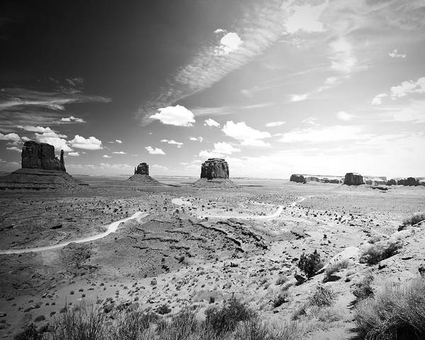 ryankellyphotography@gmail.com Poster featuring the photograph Left And Right Mittens And Merrick Butte by Ryan Kelly