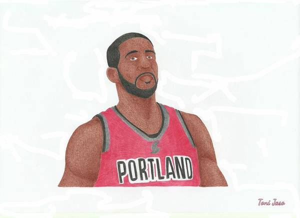Basketball Poster featuring the drawing Lemarcus Aldridge by Toni Jaso