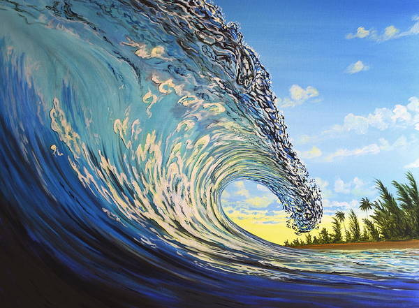 Surfart Poster featuring the painting Lemon Joy by Marty Calabrese