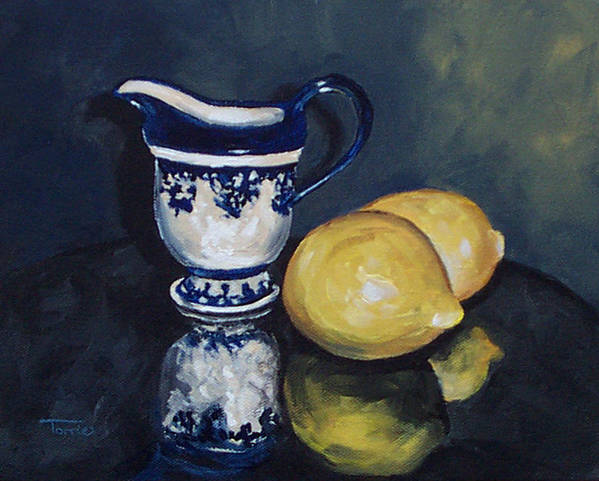 Cream Poster featuring the painting Lemons And Cream by Torrie Smiley