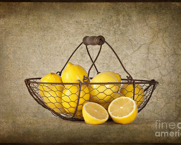 Lemons Poster featuring the photograph Lemons by Heather Swan