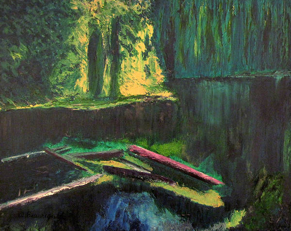 Lena Lake Poster featuring the painting Lena Lake II by Richard Beauregard