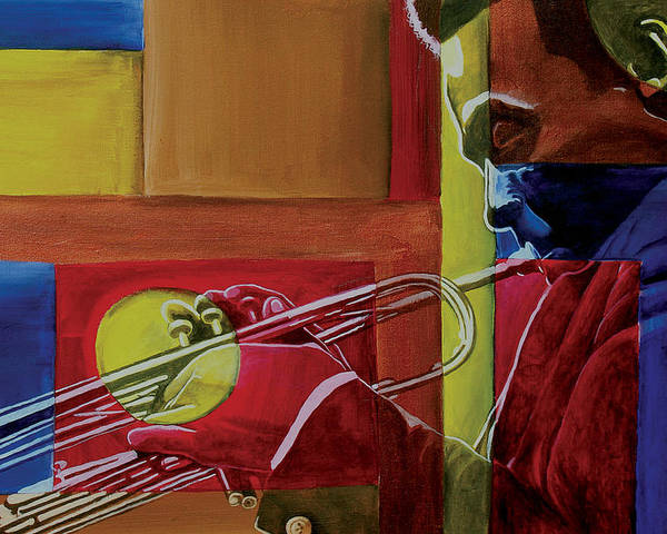 Black Art Poster featuring the painting Let Me Play by Stacy V McClain