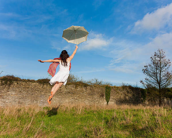 Brolly Poster featuring the photograph Let The Breeze Guide You by Semmick Photo