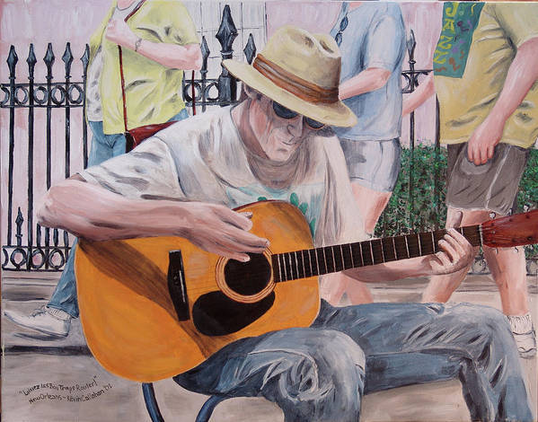 Kevin Callahan Poster featuring the painting Let The Good Times Roll-new Orleans Blues by Kevin Callahan