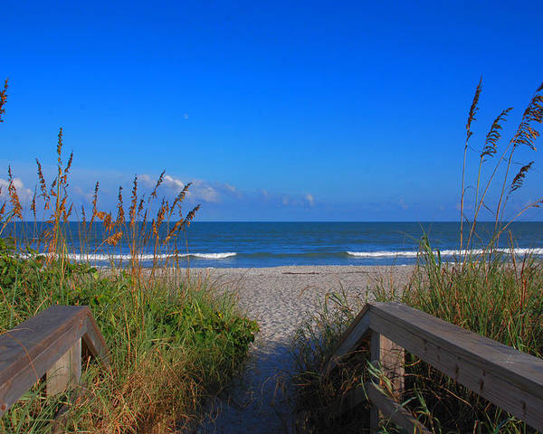 Cocoa Beach Poster featuring the photograph Lets Go To The Beach by Susanne Van Hulst
