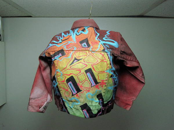 Canvas... Poster featuring the mixed media Levi Jacket by Ree Vilomar