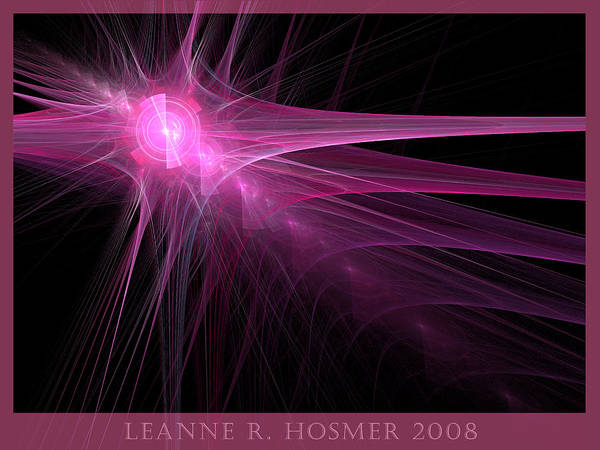 Abstract Poster featuring the digital art Lh18 by LeAnne Hosmer