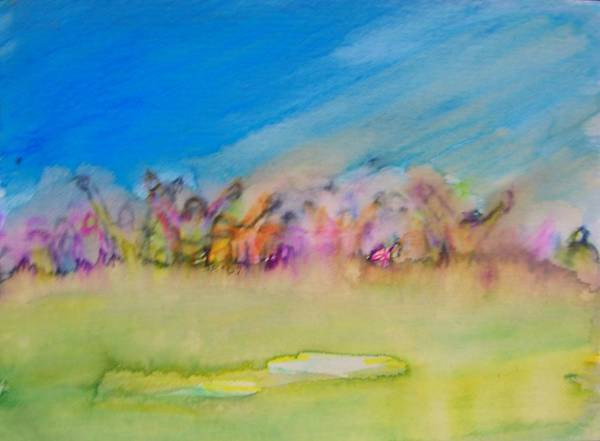 Landscape Poster featuring the painting Life--live Large by Judith Redman