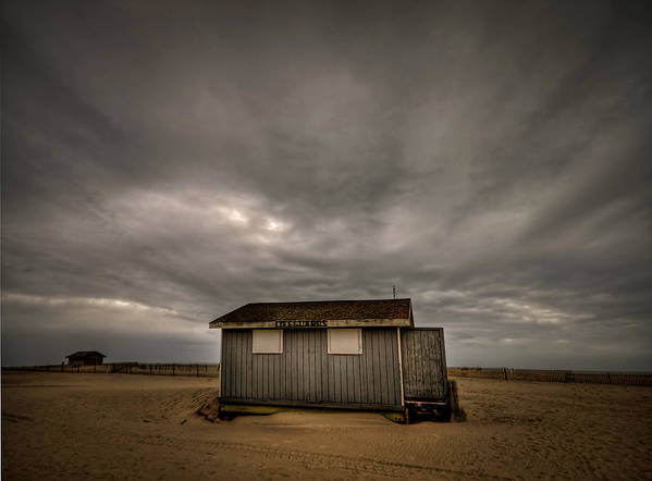 Beach Poster featuring the photograph Lifeguard Shack by Evelina Kremsdorf