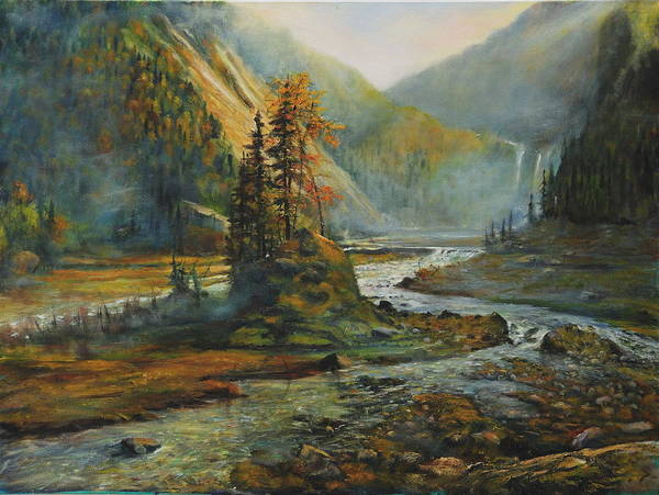 Landscape Poster featuring the painting Light After The Storm by Craig shanti Mackinnon