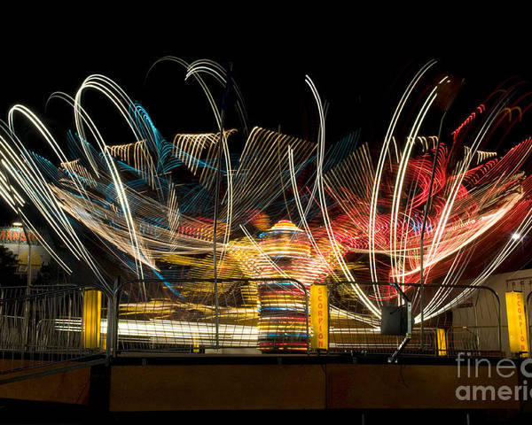 Tilt-a-whirl Poster featuring the photograph Light Spin by Alicia White