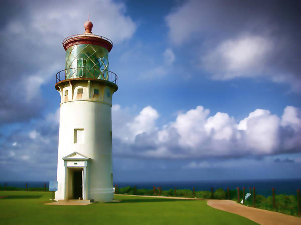 Hawaii Poster featuring the photograph Lighthouse Impression by Timothy Manning