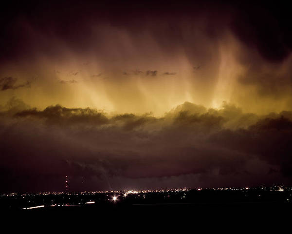 bo Insogna Poster featuring the photograph Lightning Cloud Burst Boulder County Colorado Im29 by James BO Insogna