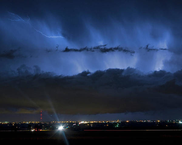 Cloudburst Poster featuring the photograph Lightning Cloud Burst by James BO Insogna
