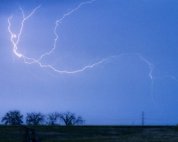Colorado Poster featuring the photograph Lightning Crawler by James BO Insogna