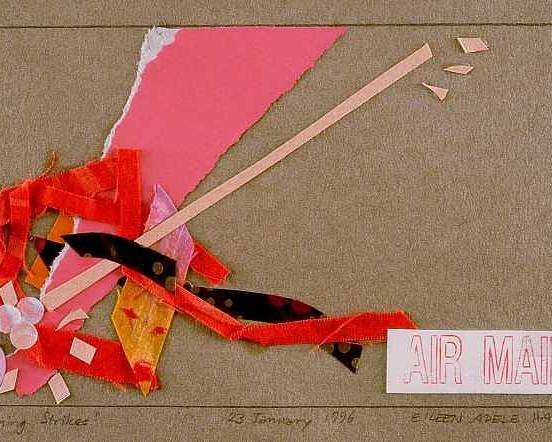 Abstract Poster featuring the mixed media Lightning Strikes by Eileen Hale