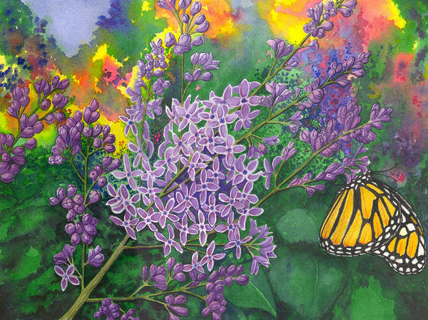 Lilac Poster featuring the painting Lilac by Catherine G McElroy
