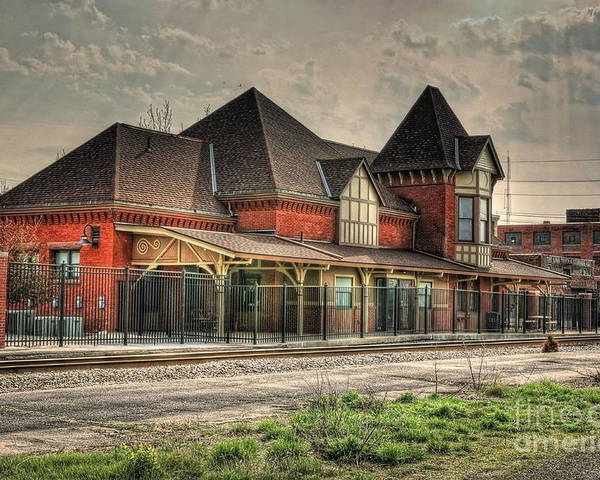 Train Poster featuring the photograph Lima Ohio Train Station by Pamela Baker