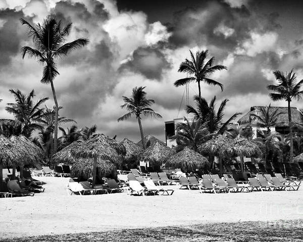 Lined Up At Punta Cana Poster featuring the photograph Lined Up At Punta Cana by John Rizzuto
