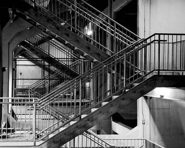 Stairs Poster featuring the photograph Lines by Greg Fortier
