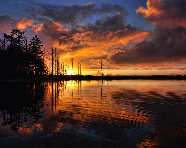 Sunset Poster featuring the photograph Listen To The Silence by Randall Scholten