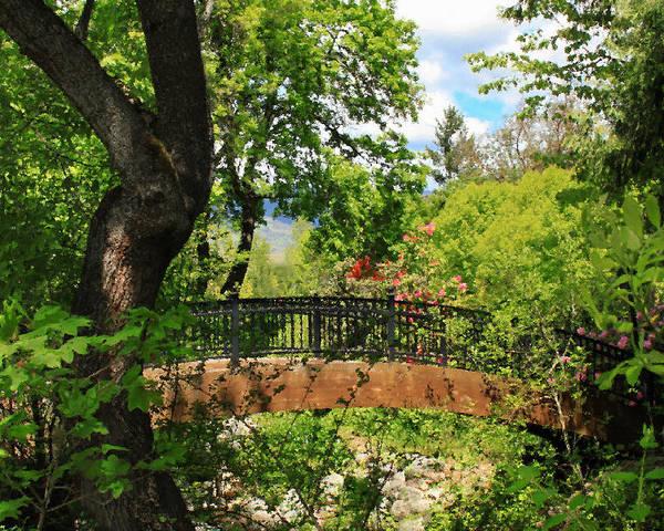 Ashland Creek Poster featuring the photograph Lithia Park Bridge by James Eddy