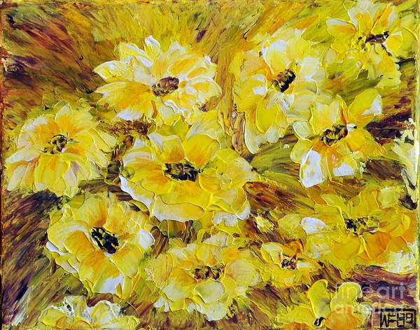 Flowers Poster featuring the painting Little Piece Of Summer by Teresa Wegrzyn