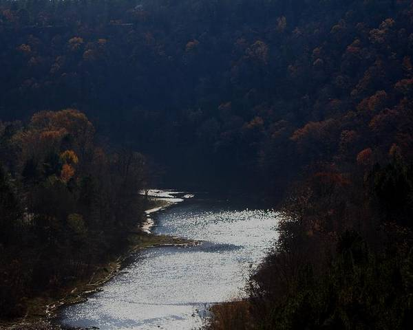 Landscape Poster featuring the photograph Little Red River by Lisa Johnston